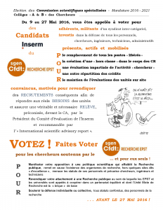 CSS 2016 A&B Votez Sgen-CFDT